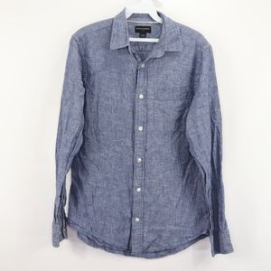 Banana Republic Mens Small Chambray Linen Shirt